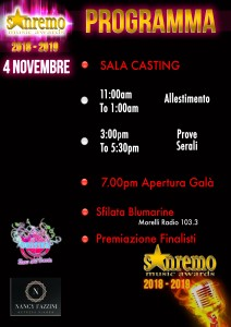 SANREMO MUSIC AWARDS_4 NOVEMBRE